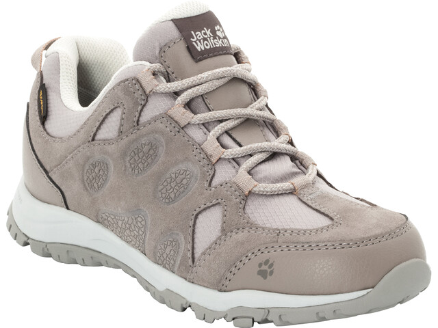 57411bacf92 Jack Wolfskin Rocksand Texapore Low Shoes Women moon rock